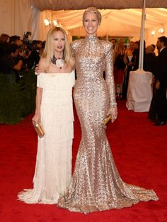 Rachel Zoe and Karolina Kurkova MET Gala. This gold dress=Everything Celebrity Red Carpet, Celebrity Style, Rachel Zoe Collection, Rachael Zoe, Vogue, Costume Institute, Gold Dress, Gold Gown, Sequin Dress