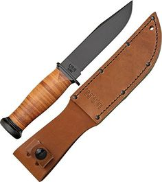 Ka-Bar Straight Leather Handled Mark 1 Knife -- This is an Amazon Affiliate link. You can get more details by clicking on the image.