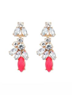 Candy Color Personality Crystal Stud Earrings For Women