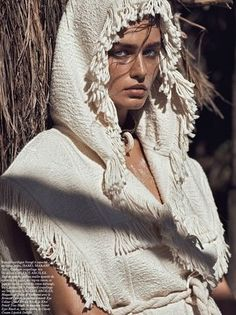 Andreea Diaconu wears Isabel Marant in 'A Là Plage' by Lachlan Bailey for Vogue Paris, May 2015.