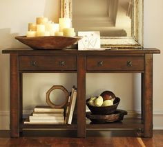 Shop benchwright console table from Pottery Barn. Our furniture, home decor and accessories collections feature benchwright console table in quality materials and classic styles. Furniture, Interior, Family Room, Reclaimed Wood Console Table, Extendable Dining Table, Home Furniture, Entryway Furniture, Home Decor, Console Table