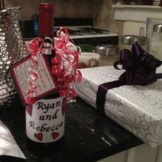 List Wedding Gifts Per Year : cute idea for a wedding shower gift. Decorate one wine bottle for each ...
