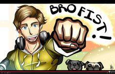 pewdiepie bro fist by smudgeandfrank Pewdiepie Fan Art, Smosh, Playbuzz, Markiplier, Geek Girls, Hetalia, Bro, Youtubers, Joker