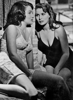 Doria Dowling and Silvana Mangano by Robert Capa