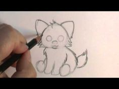 How to draw a cartoon wolfpup