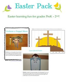 Free Easter Printable Pack for PreK-2nd Grade (27-Pages)