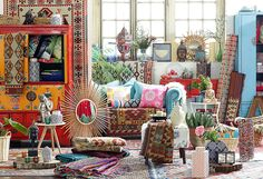 ¡#Colores y #texturas para enamorarse! #Boho #DecoBazar #Living