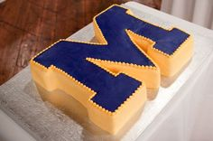 University of Michigan cake. Maize and blue forever!