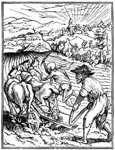 Artist: Holbein d. J., Hans, Title: »The Dance of Death« 38, The Ploughman, Date: 1524-26