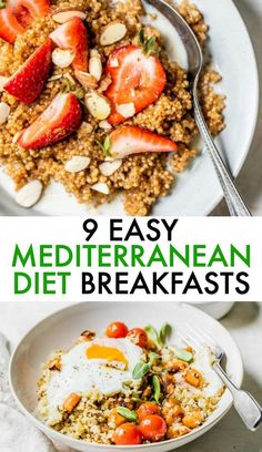 51 Easy Mediterranean Diet Recipes Enjoy these EASY Medite. 51 Easy Mediterranean Diet Recipes Enjoy these EASY Mediterranean Diet breakfast recipes every day of the week! They're made with real food and will leave you feeling satisfied all morning long Mediterranean Breakfast, Easy Mediterranean Diet Recipes, Mediterranean Food, Diet And Nutrition, Dieta Dash, Dieta Atkins, Diet Meal Plans, Keto Meal, Whole Food Recipes