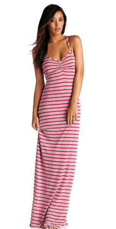 CA by Vitamin A 2014 Erica Heather #Stripe Rose Long Dress 33DHSR | South Beach #Swimsuits