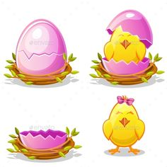 Buy Cartoon Chicken and Blue Egg in a Nest by BabySofja on GraphicRiver. Cartoon funny chicken and blue egg in a nest of twigs in various stages of development, chick young boy Cartoon Chicken, Chicken Humor, Funny Chicken, Egg Nest, Blue Eggs, Baby Chicks, Young Boys, Funny Cartoons, Vector Free