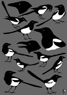 more of Matt Dawson's magpies (cutout style)