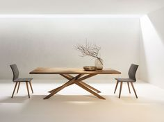 metro | Anrei Dinning Table, Dining Bench, Dining Room, Design Tisch, Hybrid Design, Japanese Design, New Homes, Wood, Kitchen