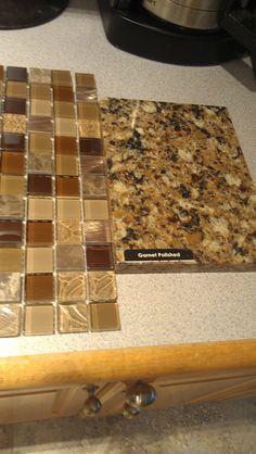 Kitchen Countertop and backsplash.  pental quartz - Garnet Polished and Lowes.com for the backsplash