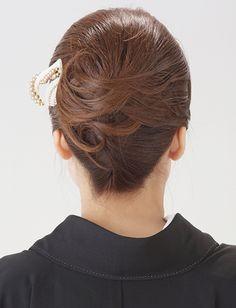 【留袖ヘア】毛流れの綺麗な大人アップスタイル|夢館ビューティー || 京都 || 着物着付・ドレスヘアセット&メイク || 結婚式・およばれ・パーティに