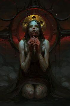 My favorite creepy fantasy art Scary Vampire, Vampire Art, Fantasy Kunst, Dark Fantasy Art, Kunst Inspo, Art Inspo, Mai King Of Fighters, Dark Creatures, Beautiful Dark Art