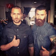 Levi Stocke with beard. Two thumbs up for both!