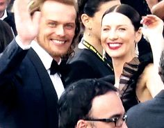 Sam y Cait at Golden Globes