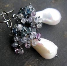 giant pearls and sapphires!