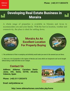 Moraira villas and apartments which come under the Javea property are affordable and beautiful. As the weather of Spain is tremendously amazing, there is no looking back from the decision of purchasing a property here.