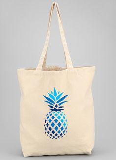 Pineapple Tote Bag, Cotton Canvas Tote Bag, Weekend Bag, Recyclable Tote, Grocery Tote, Gym, Yoga, Beach, Custom Tote Bag, Vacation Tote by ShopBlueBungalow   www.Shopbluebungalow.com Beach Tote Bags, Canvas Tote Bags, Cotton Bag, Cotton Canvas, Custom Tote Bags, Summer Fun, Pineapple, Yoga, Gym