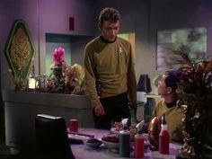 Star Trek Season 1 Episode 1 - The Man Trap (8 Sep. 1966), Green (Bruce Watson) and Sulu (George Takei)
