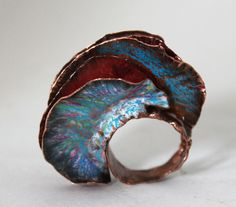 Ring Fold Form Copper and Prismacolors Dangerous by markasky, $295.00