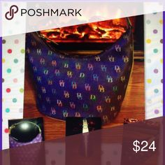 Dooney & Bourke purple it bucket bag handbag Dooney and Bourke purple bucket bag in preowned fair condition as you know if you have purchased these bags before after time they get discoloration spots price is firm reflects the condition inside clean outside has fading Dooney & Bourke Bags Shoulder Bags