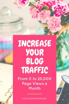 Simple ways I went from nothing to 20,000 page views a month. Increase Blog Traffic with my simple tips.
