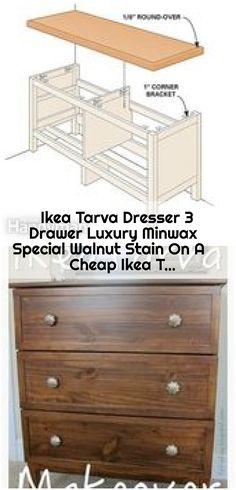 Ikea Tarva Dresser 3 Drawer Luxury Minwax Special Walnut Stain On A Cheap Ikea T. , Ikea Tarva Dresser 3 Drawer Luxury Minwax Special Walnut Stain On A Cheap Ikea Tarva Dresser. Ikea Tarva Dresser, Minwax, Walnut Stain, Drawers, Luxury, Furniture, Home Decor, Decoration Home, Room Decor