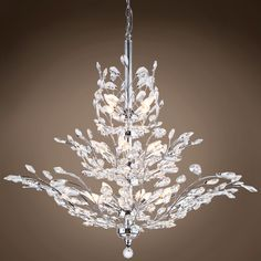 810bd8a9a64 Joshua Marshal 700109 Branch of Light 13 Light Chrome Chandelier with  Crystals From Branch of Light