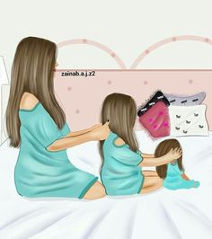 No more babies for me though. Unless its a huge surprise lol Mother And Daughter Drawing, Mother Daughter Quotes, Mother Art, Mother And Child, Mother Daughters, Fille Anime Cool, Sarra Art, Christmas Presents For Girls, Love Cartoon Couple