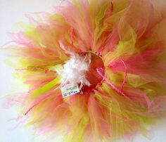Hot pink, Lime, white childrens infant tutu size 12- 24 months on Etsy, $35.00
