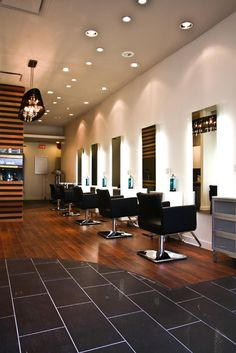 Love the Floor! cabnet space clean lines  simply elegant salon