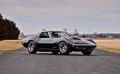 Herunterladen hintergrundbild chevrolet corvette, stingray, retro-sportwagen, schwarz, corvette, amerikanische autos