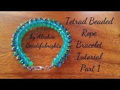 RAW Beaded Bracelet Tutorial - YouTube