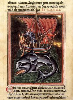 In Ibben the people are whalers, they live off the large population of whales in the Shivering Sea. Whales- really folio from a Bestiary  1190s