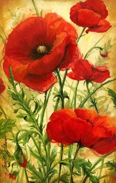 """Poppy Field I"" - by Janet Stever"