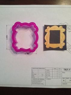 "Plaque 28 Small (""Friends Peep Hole Frame"")  - cutter at http://www.trulymadplastics.com/"