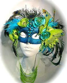 Peacock in the Garden Masquerade Mask Art Masks Costumes OOAK Lace Masquerade Masks, Masquerade Wedding, Peacock Feathers, Peacock Mask, Plaster Crafts, Animal Masks, Masks Art, Victorian Gothic, Beaded Flowers