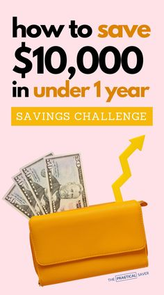 Looking to build your savings? | The Practical Saver |  Here are 29 actionable ways to save $10,000 in under a year with simple frugal living. Find out best money saving tips and easy ways to save money even on a tight budget. Save money with these frugal living tips and money-saving plan to help you become debt free with a better budget and finally stop living paycheck to paycheck. #savemoney #frugal #finances #budget #debtfree Best Money Saving Tips, Ways To Save Money, How To Get Money, Money Tips, Saving Money, Savings Challenge, Money Saving Challenge, Financial Budget, Money Now