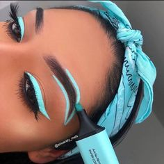 "COOLTUTORIALVIDS🌸 on Instagram: ""Blue or pink ??💞😍 Leave your comment..💭 Tag your friends 👭 Follow:📸@cooltutorialvids💡 Follow:📸@cooltutorialvids💡…"" Matte Liquid Eyeliner, Eyeliner Pen, Waterproof Eyeliner, Eyeshadow, Neutral Eye Makeup, Blue Makeup, Canada Pictures, Really Cute Nails, Attractive Eyes"