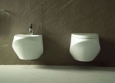 Hanging Toilet & Bidet from Ceramica Esedra - The Basic Collection