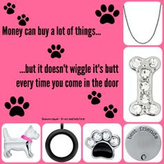 Dogs are a girl's best friend! Origami Owl Living Lockets can tell the story of how much you love your pets.