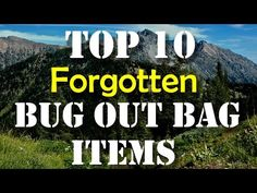 Most people get he basic survival gear when they put there bug out bag together but this quick checklist will show you what bug out bag items your forgot