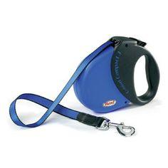 Flexi Durabelt SoftGrip Retractable Dog Leash in Blue