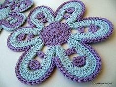 Ravelry: Beautiful Flower Motif ~ Simple Tutorial Crochet Pattern  by Lyubava Crochet