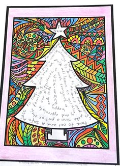 Kids can write about what Christmas means to them inside the tree and colour the outside patterns to show how Christmas makes them feel. Eight detailed designs to choose from!