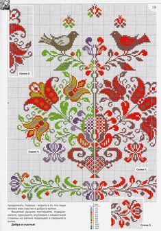 """cross stitch"" - It Was A Work of Craft Folk Embroidery, Cross Stitch Embroidery, Embroidery Patterns, Cross Stitch Heart, Cross Stitch Flowers, Cross Stitch Designs, Cross Stitch Patterns, Crochet Bedspread Pattern, Arte Popular"